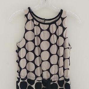 Loft polka dot sleeveless dress size 0